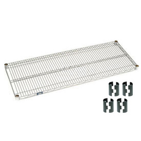 "Nexel S2472Z Poly-Z-Brite Wire Shelf 72""W x 24""D with Clips"