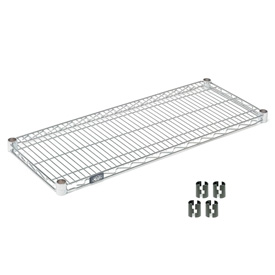 Poly-Z-Brite Wire Shelf 18x36 With Clips