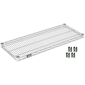 "Nexel S1842Z Poly-Z-Brite Wire Shelf 42""W x 18""D with Clips"
