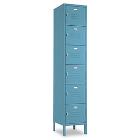 Penco 6367V1806SU Vanguard Locker Six Tier 12x15x12 6 Doors Assembled Marine Blue