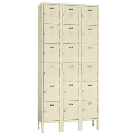 Penco 68203X073-KD VanGuard Locker Six Tier 12x15x12 18 Doors Ready To Assemble Champagne