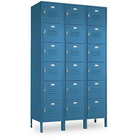 Penco 6367V-3-806KD VanGuard Locker Six Tier 12x15x12 18 Doors Ready To Assemble Marine Blue