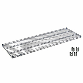 "Nexel S2472N Nexelon Wire Shelf 72""W x 24""D with Clips"