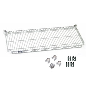 "Nexel S1860AZ Quick Adjust Wire Shelf 60""W x 18""D with Hooks and Clips"