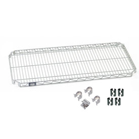"Nexel S2448AZ Quick Adjust Wire Shelf 48""W x 24""D with Hooks and Clips"