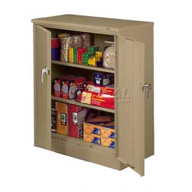 "Sandusky Classic Counter Height Storage Cabinet CA21362442-04 - 36""W x 24""D x 42""H Tropic Sand"