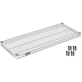 "Nexel S1424C Chrome Wire Shelf 24W x 14""D with Clips"