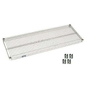 "Nexel S2148C Chrome Wire Shelf 48""W x 21""D with Clips"