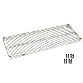 "Nexel S2154C Chrome Wire Shelf 54""W x 21""D with Clips"