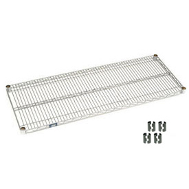 "Nexel S2160C Chrome Wire Shelf 60""W x 21""D with Clips"