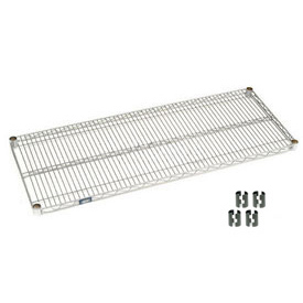 "Nexel S2172C Chrome Wire Shelf 72""W x 21""D with Clips"