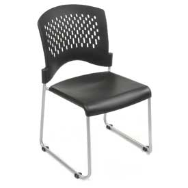 Plastic Stacking Chair - Black - Pkg Qty 4