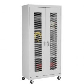 Sandusky Expanded Metal Door Mobile Storage Cabinet TA4M461872 - 46x18x78, Gray
