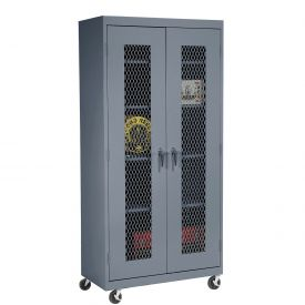 Sandusky Expanded Metal Door Mobile Storage Cabinet TA4M461872 - 46x18x78, Charcoal