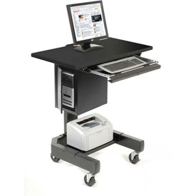Mobile Computer Cart - Black