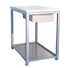 18 X 24 X 24 Drawer / Shelf Shop Stand - Maple- Blue