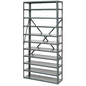 """Open Style Steel Shelf With 10 Shelves 36""""Wx18""""Dx73""""H Ready To Assemble"""