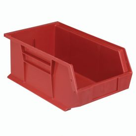 Quantum Plastic Storage Bin - Small Parts QUS241 8-1/4 x 13-5/8 x 6 Red - Pkg Qty 12