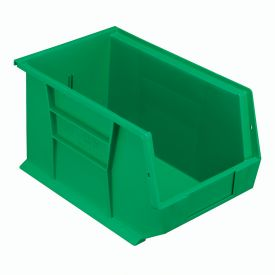 Quantum Plastic Stackable Bin QUS242 8-1/4 x 13-5/8 x 8 Green - Pkg Qty 12