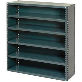 "Closed Style Steel Shelf With 11 Shelves 36""Wx12""Dx73""H Ready To Assemble"