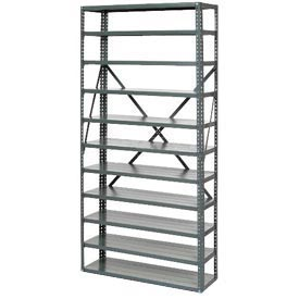 "Open Style Steel Shelf With 7 Shelves 36""Wx18""Dx39""H Ready To Assemble"