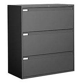 "Global™ 9300 Series 36""W 3 Drawer Binder Lateral File - Black"