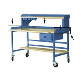 "60""W X 30""D Back & End Stops - Blue"