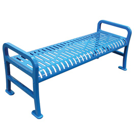 "48"" Roll Formed Diamond Flat Bench - Blue"