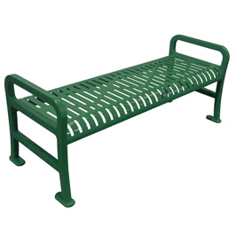 "48"" Roll Formed Diamond Flat Bench - Green"