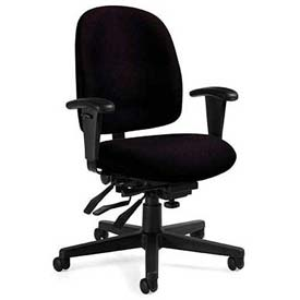 Global™ Multi-Tilter Office Chair - Fabric - Low Back - Black - Granada Series