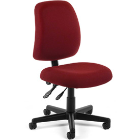 OFM Multifunctional Task Chair - Fabric - Mid Back -Burgundy