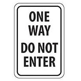 Aluminum Sign -  One Way Do Not Enter - .063mm Thick