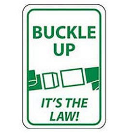 Aluminum Sign -  Buckle Up Its The Law - .063mm Thick