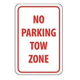 "Aluminum Sign -  No Parking Tow Zone - .063"" Thick, TM38H"