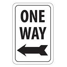 Aluminum Sign -  One Way Left Arrow - .063mm Thick
