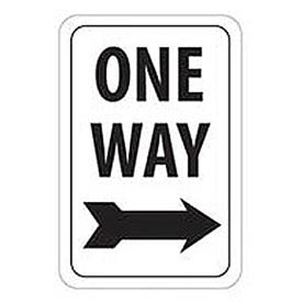 Reflective Aluminum Sign - One Way Right Arrow - .080mm Thick