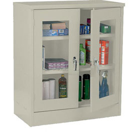 Sandusky Clear View  Counter Height Cabinet CA2V361242 - 36x12x42, Putty