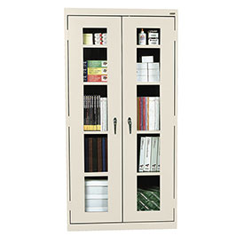 Sandusky Clear View Storage Cabinet CA4V361272 -36x12x72, Putty