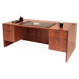 66 Inch Desk with Hanging Peds in Cherry - Manager Series