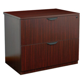 Regency 2 Drawer Lateral File in Mahogany - Manager Series