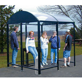 "No Butts Smoking Shelters Free-Standing 4 Sided 3'6""X13'9"""