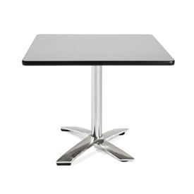 "36"" Square Flip Top Table Gray"