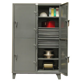 Strong Hold® Standard Locker 46-24-2TPL-8DB - Double Tier With 8 Drawers