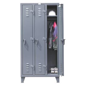 Strong Hold® Heavy Duty Slim-Line Locker 36-18-1TSL - Single Tier 38x18x78 3 Door