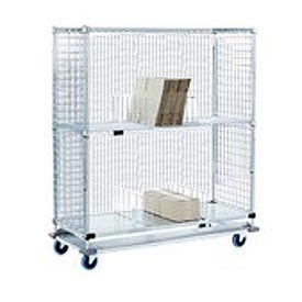 Nexel® Enclosed Wire Exchange Truck 2 Wire 1 & Galvanized 1000 Lb Cap