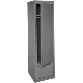 Sandusky System Series Wardrobe Storage Cabinet HAWF171864 Single Door - 17x18x64, Charcoal