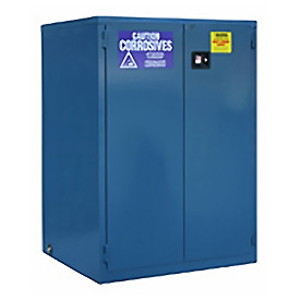 "Global™ Acid Corrosive Cabinet - Manual Close Double Door 60 Gallon - 34""W x 34""D x 65""H"
