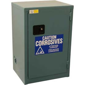 "Global™ Acid Corrosive Cabinet - Self Close Single Door 12 Gallon - 23""W x 18""D x 35""H"