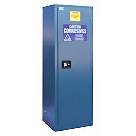 "Global&#8482 Acid Corrosive Cabinet - Self Close Single Door 24 Gallon - 23""W x 18""D x 65""H"