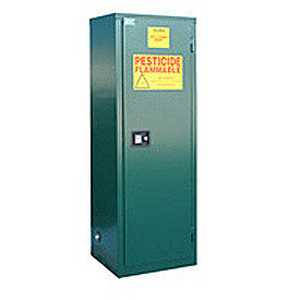 "Global™ Pesticide Storage Cabinet - Self Close Single Door 24 Gallon - 23""W x 18""D x 65""H"